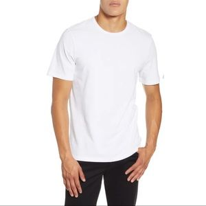 Vince regular fit solid t-shirt mens white
